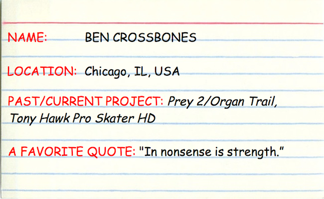 3x5 Interview with Ben Crossbones