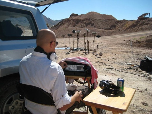 Watson-recording-weapons-Nevada-desert