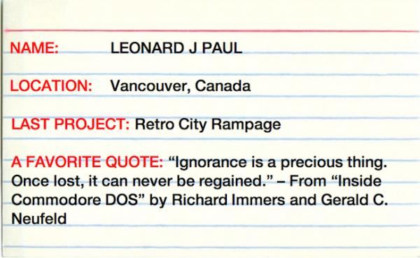 3x5 Interview with Leonard J Paul